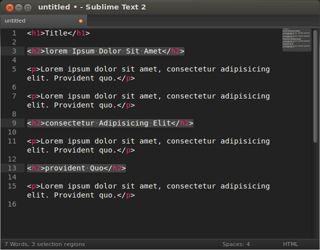 Операция Title Case в Sublime Text 2